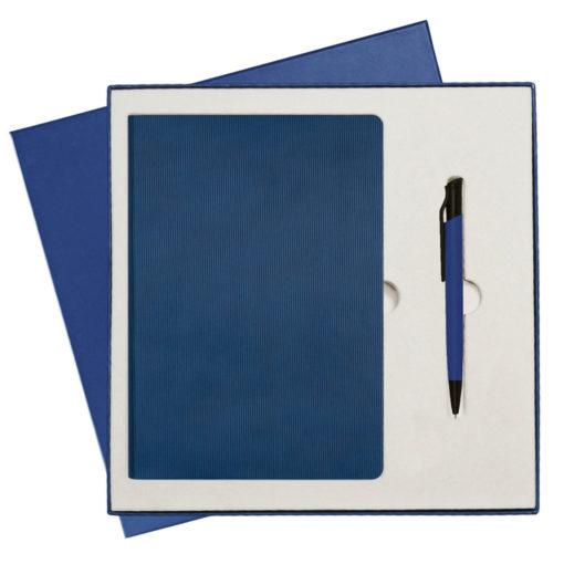 Подарочный набор Portobello/Rain синий-6 (Ежедневник недат А5, Ручка)
