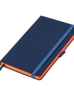 Ежедневник Portobello Trend, Blue ocean, недатированный, синий/оранжевый