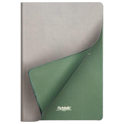 Ежедневник Portobello Trend, Latte NEW, недатированный, серый/зеленый