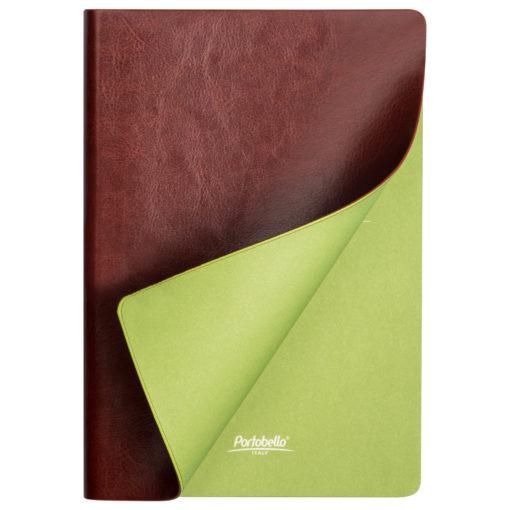 Ежедневник Portobello Trend, River side, недатированный, коричневый/салатовый