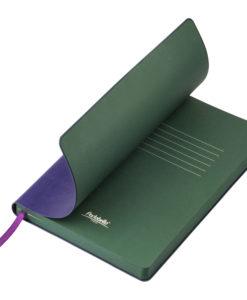 Ежедневник Portobello Trend, River side, недатированный, фиолетовый/зеленый