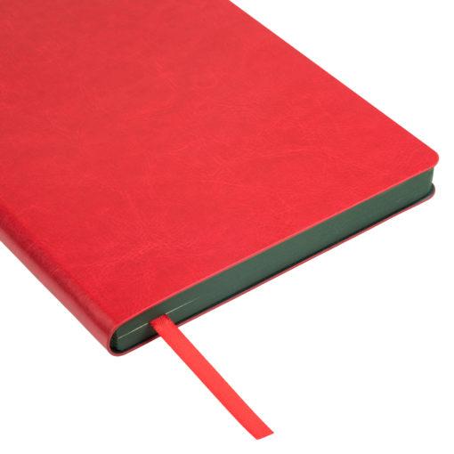 Ежедневник Portobello Trend, River side, недатированный, красный/зеленый