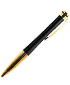 Шариковая ручка Megapolis, черная/позолота