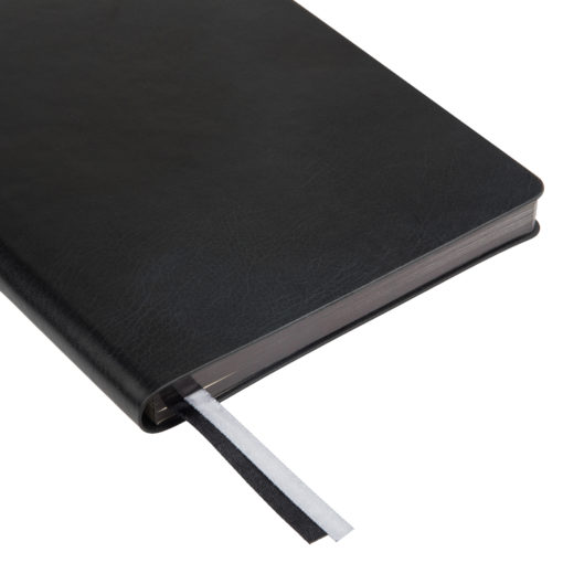 Ежедневник Portobello Trend, Atlas, недатированный, черный, срез-фольга/черный