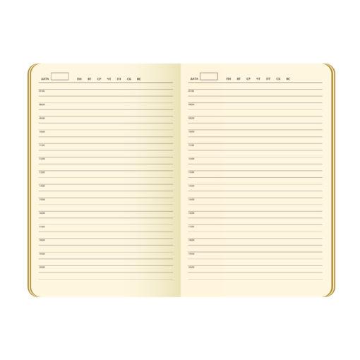 Ежедневник Portobello Trend, Atlas, недатированный, серый, срез-фольга/серый