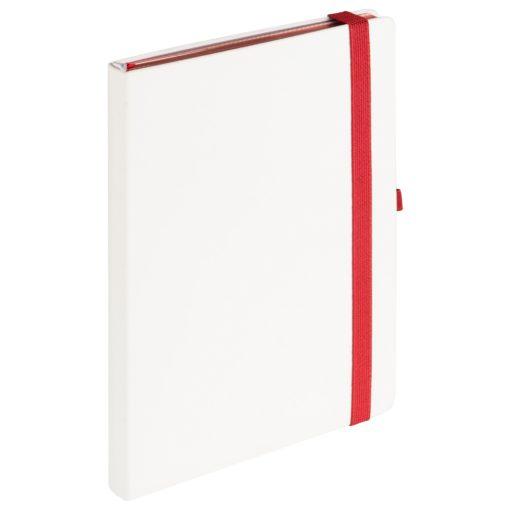 Ежедневник Portobello Trend, Arctic, недатированный, белый/красный