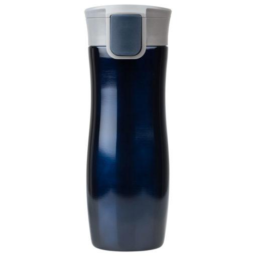 Термокружка вакуумная герметичная, Lavita, 450 ml, покрытие металлик, синяя