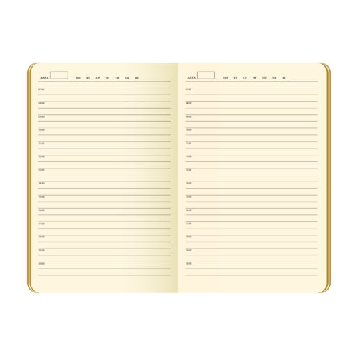 Ежедневник Portobello Trend, Velour, недатированный, черный