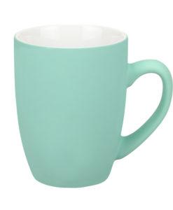 Керамическая кружка Alba, 350 ml, soft-touch, бирюзовая