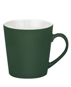 Керамическая кружка Sole, 350 ml, soft-touch, зеленая