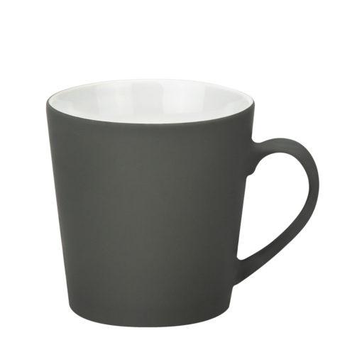 Керамическая кружка Sole, 350 ml, soft-touch, серая