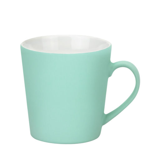 Керамическая кружка Sole 350 ml, soft-touch, бирюзовая