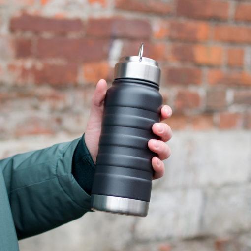 Термобутылка вакуумная герметичная, Garda, 530 ml, черная