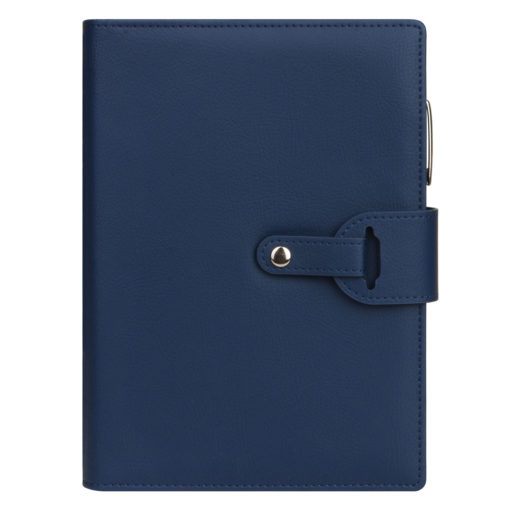 Ежедневник-портфолио Passage, синий, обложка soft touch, недатированный кремовый блок, подарочная коробка