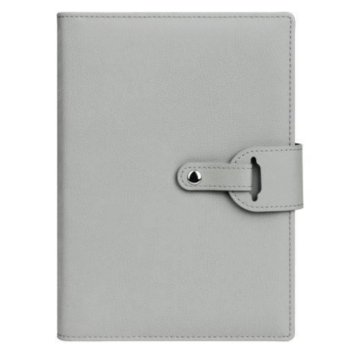 Ежедневник-портфолио Passage, серый, обложка soft touch, недатированный кремовый блок, подарочная коробка