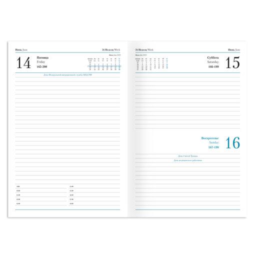Ежедневник Vegas, А5, датированный (2022 г.), бордовый