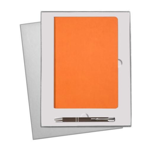 Подарочный набор Sky/Alpha, оранжевый (ежедневник недат А5, ручка)