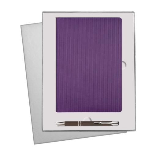 Подарочный набор Rain/Alpha, фиолетовый (ежедневник недат А5, ручка)