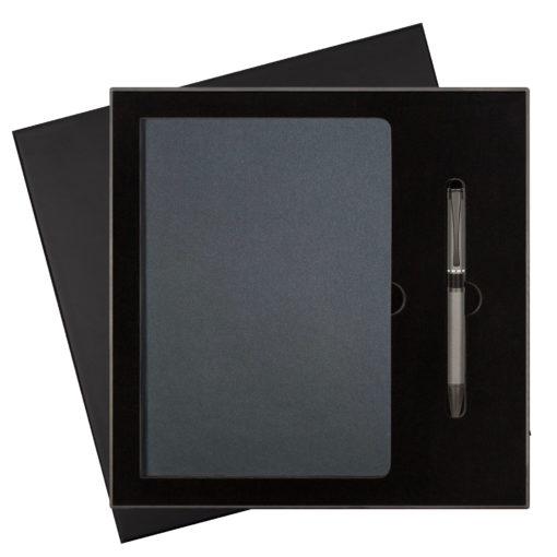 Подарочный набор Star/iP, черный (ежедневник недат А5, ручка)