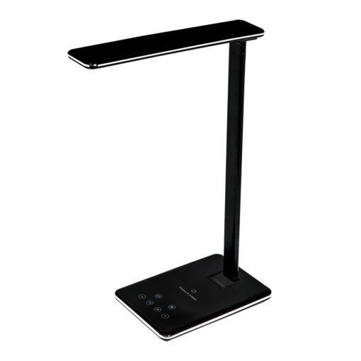 Настольная лампа Lumos с беспроводной зарядкой, черная