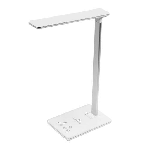 Настольная лампа Lumos с беспроводной зарядкой, белая
