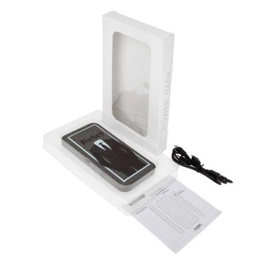 Внешний аккумулятор, Tweed PB, 10000 mah, серый, подарочная упаковка с блистером