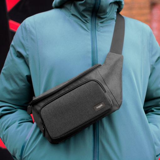 Поясная сумка Flexy, серый/серый
