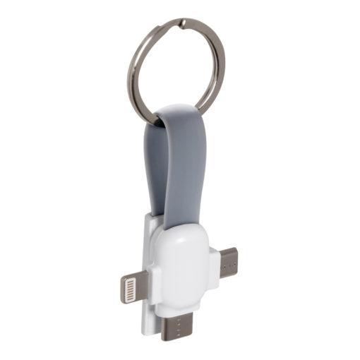Кабель-брелок 3в1 Cavi, серый, в подарочной упаковке