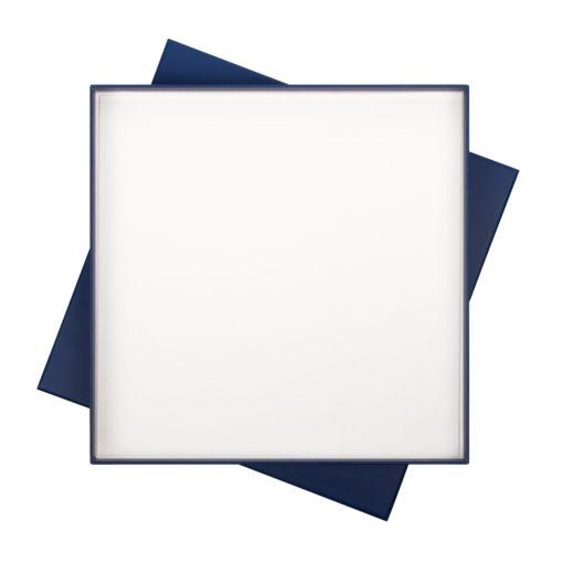 ПОДАРОЧНАЯ КОРОБКА ПОД ЕЖЕДНЕВНИК+РУЧКА, СИНЯЯ, 260*260 мм, светлый ложемент