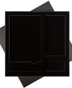 ПОДАРОЧНАЯ КОРОБКА ДЛЯ НАБОРА ЧЕРНАЯ, 307*307 мм, черный ложемент, под съемные ложементы