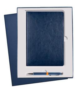 Подарочный набор Portobello/River Side синий (Ежедневник недат А5, Ручка) выруб. ложемент