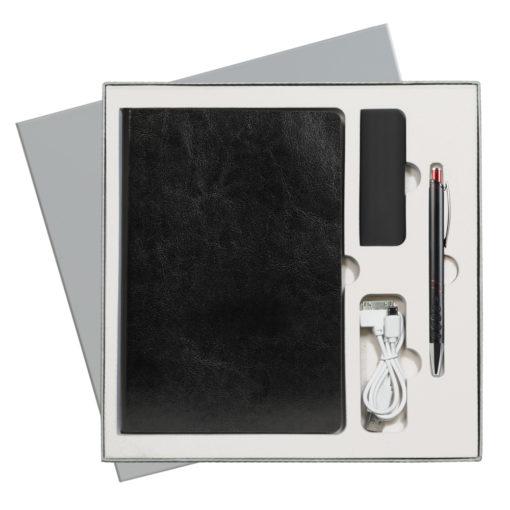 Подарочный набор Portobello/River Side-2 черный-красный (Ежедневник недат А5, Ручка, Power Bank)