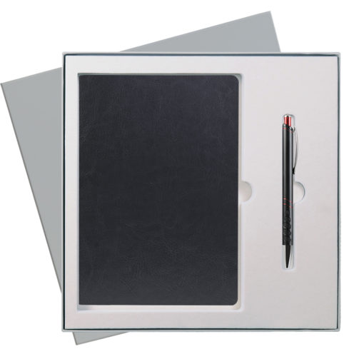Подарочный набор Portobello/River Side черный (Ежедневник недат А5, Ручка) беж. ложемент