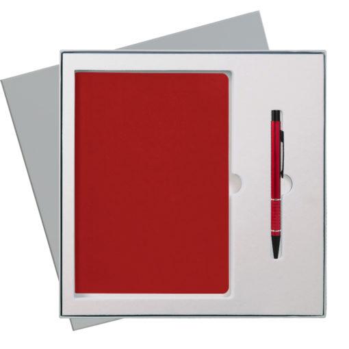 Подарочный набор Portobello/Sky красный(Ежедневник недат А5, Ручка) беж. ложемент