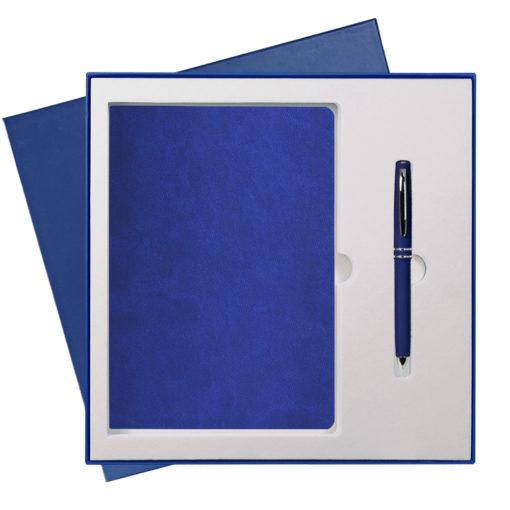 Подарочный набор Portobello/Latte синий (Ежедневник недат А5, Ручка) беж. ложемент