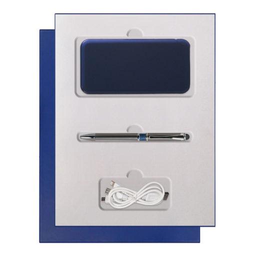 Подарочный набор Portobello/Grand синий, (Power Bank,Ручка)