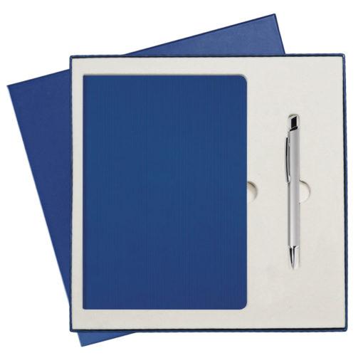 Подарочный набор Portobello/Star синий (Ежедневник недат А5, Ручка) беж. ложемент