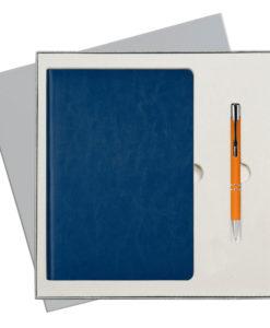 Подарочный набор Portobello/River Side синий (Ежедневник недат А5, Ручка) беж. ложемент