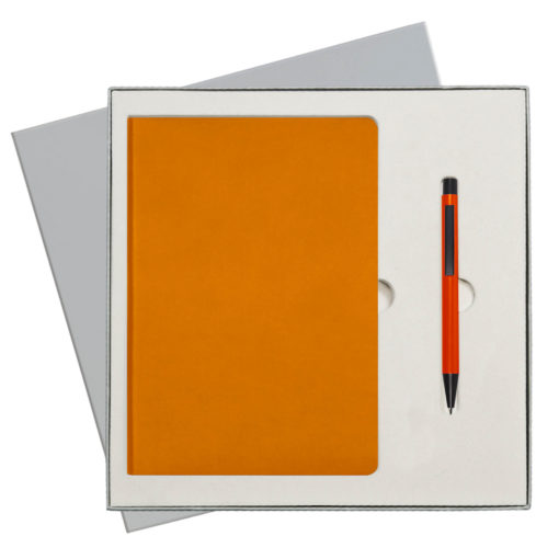 Подарочный набор Portobello/Sky оранжевый (Ежедневник недат А5, Ручка) беж. ложемент