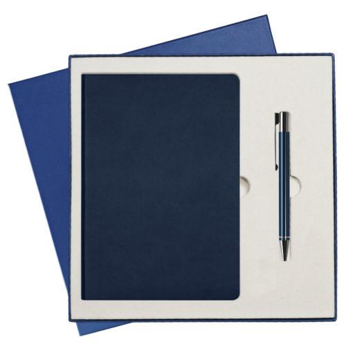 Подарочный набор Portobello/Sky синий (Ежедневник недат А5, Ручка) беж. ложемент