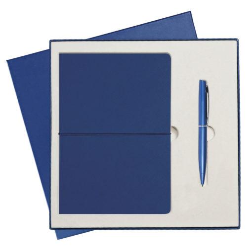 Подарочный набор Portobello/Summer time синий-2(Ежедневник недат А5, Ручка) беж. ложемент