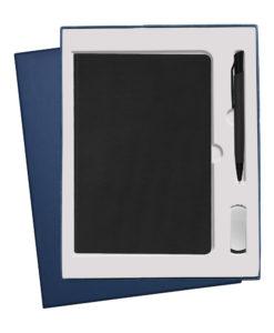 Подарочный набор Portobello/ Canyon черный (Ежедневник недат А5, Ручка, флешка)