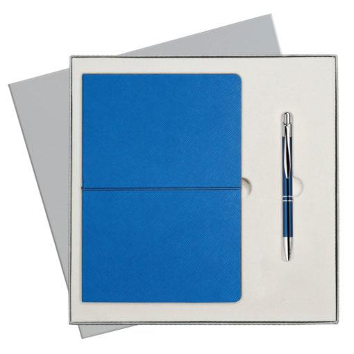 Подарочный набор Portobello/Summer time синий-3(Ежедневник недат А5, Ручка) беж. ложемент