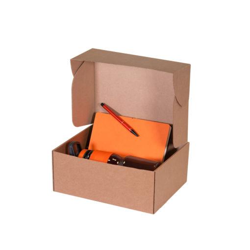 Подарочный набор Portobello оранжевый в малой универсальной подарочной коробке (Ежедневник недат А5 (Summer time), Спортбутылка, Ручка)