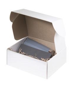 Подарочный набор Portobello серый в малой универсальной подарочной коробке (Термокружка, Ежедневник недат А5)