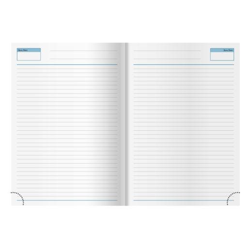 Ежедневник недатированный City Flax 145х205 мм, без календаря, красный