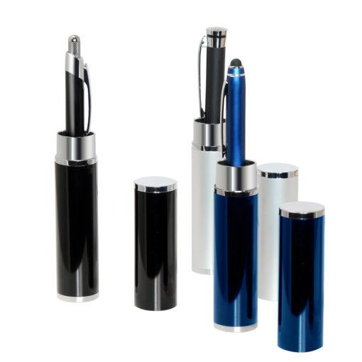 Коробка подарочная, футляр — тубус, алюминиевый, черный, глянцевый, для 1 ручки
