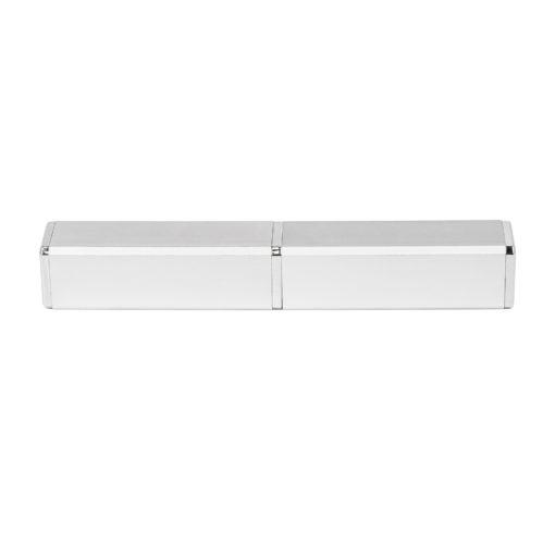 Коробка подарочная, футляр — тубус , алюминиевый, серебро, матовый перламутр, для 1 ручки