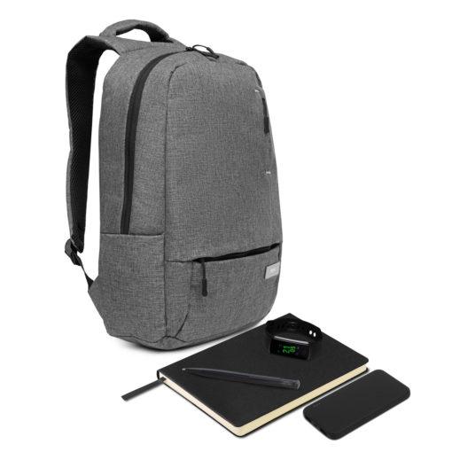 Подарочный набор Super-set-Portobello (Рюкзак, внешний аккумулятор, смарт браслет. ежедневник А5, ручка)