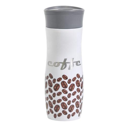 Термокружка вакуумная герметичная, Lavita, 450 ml, покрытие глянец, белая